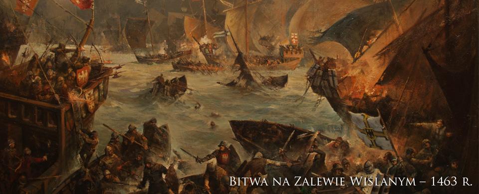 Znalezione obrazy dla zapytania bitwa morska na zalewem wiślanym